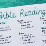 Bullet Journal to Read the Bible in a Year